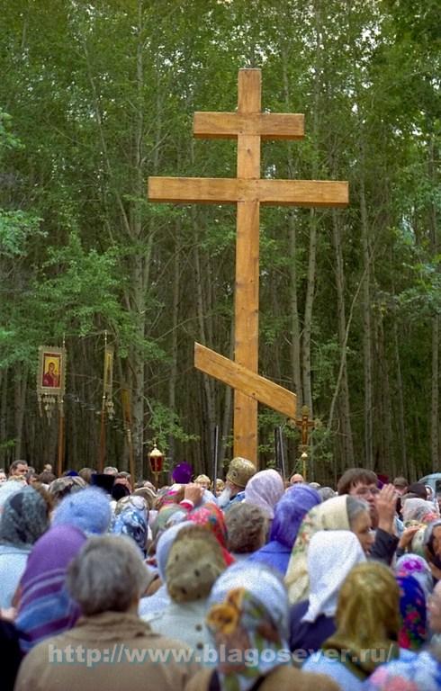 Установка первого Креста, 2000 год